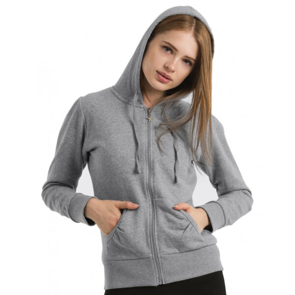 B&C Ladies Hooded Zip Sweat