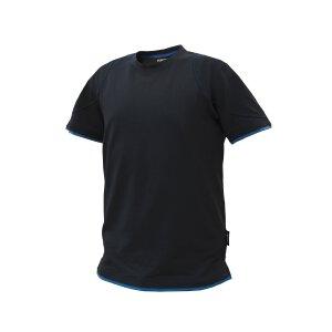 Dassy T-Shirt Kinetic Schwarz/Azurblau XL