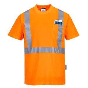 Warnschutz-T-Shirt mit BRUSTTASCHE