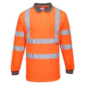 Langarm Warnschutz Polo Shirt