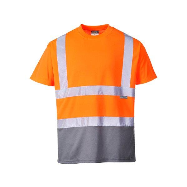 Zweifarbiges Warnschutz T-Shirt
