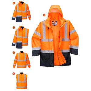 Winter Warnschutz Jacke 5-in-1