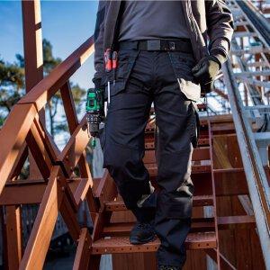 Dassy Arbeitshose Flux Stretch mit Holstertaschen und Kniepolstertaschen