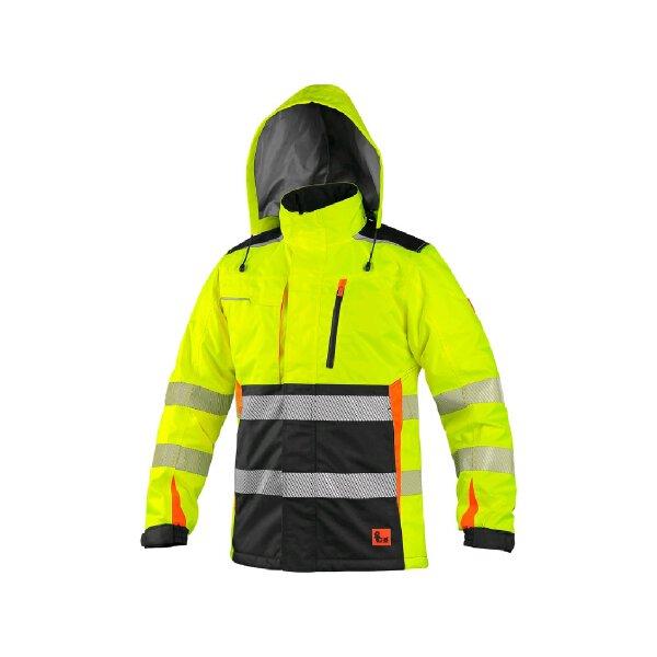 CXS Warnschutz Winterjacke Benson gelb/schwarz