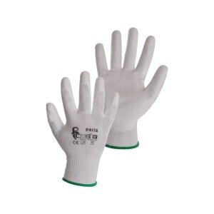 CXS Feinstrick Handschuhe Brita Weiß PU