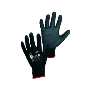 CXS Feinstrick Handschuhe Brita Schwarz PU