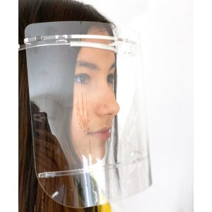 Spuckschutz / Gesichtsschutz Visier Weiß