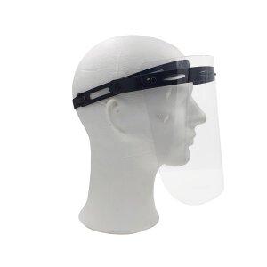 Unitex Gesichtsschutz Visier mit Schwarz klappbar