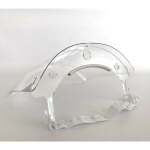Spuckschutz / Gesichtsschutz Visier Weiß 5er Pack