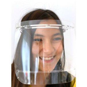 Spuckschutz / Gesichtsschutz Visier Weiß 10er Pack